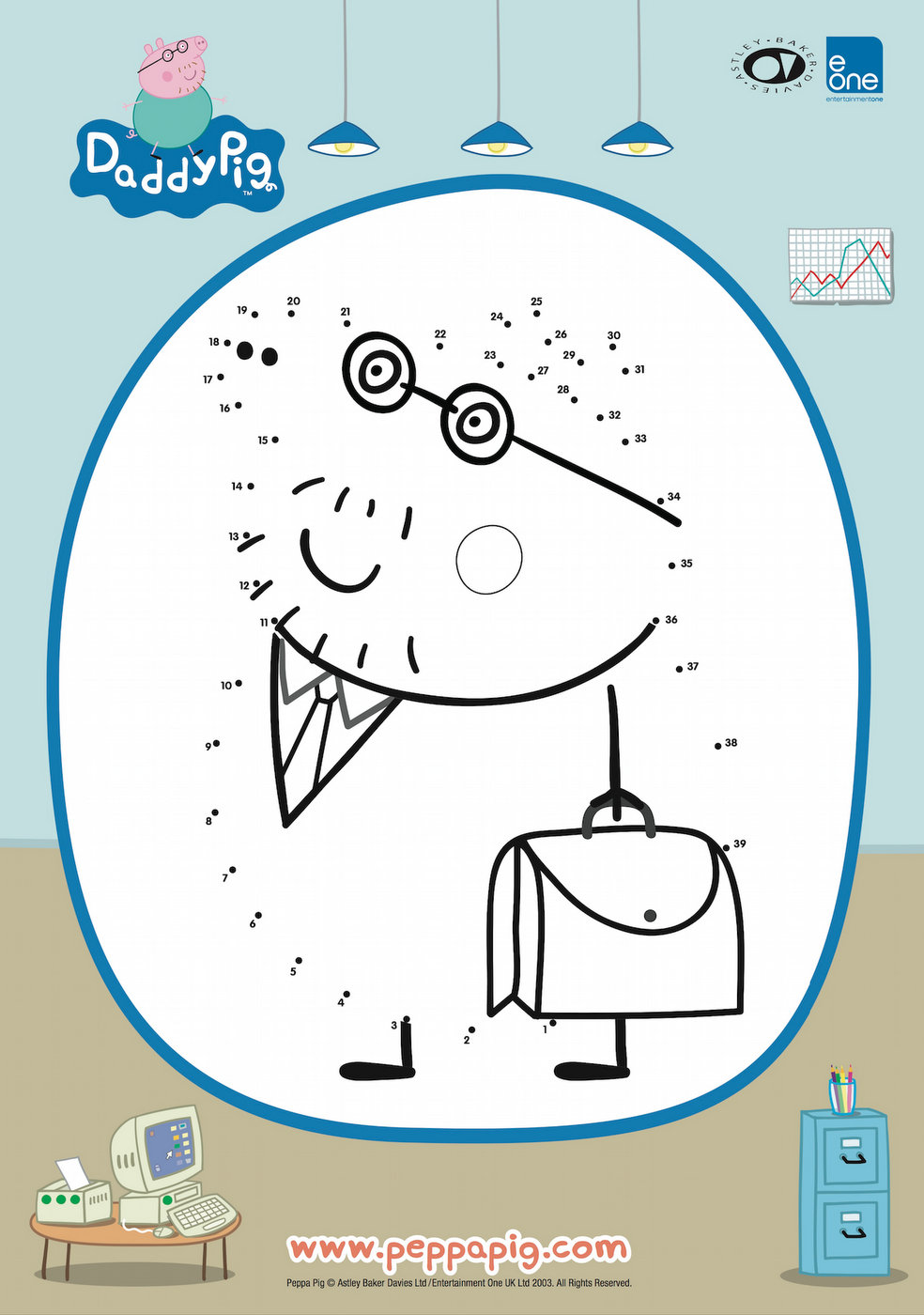 Daddy Pig Join the Dots Printable