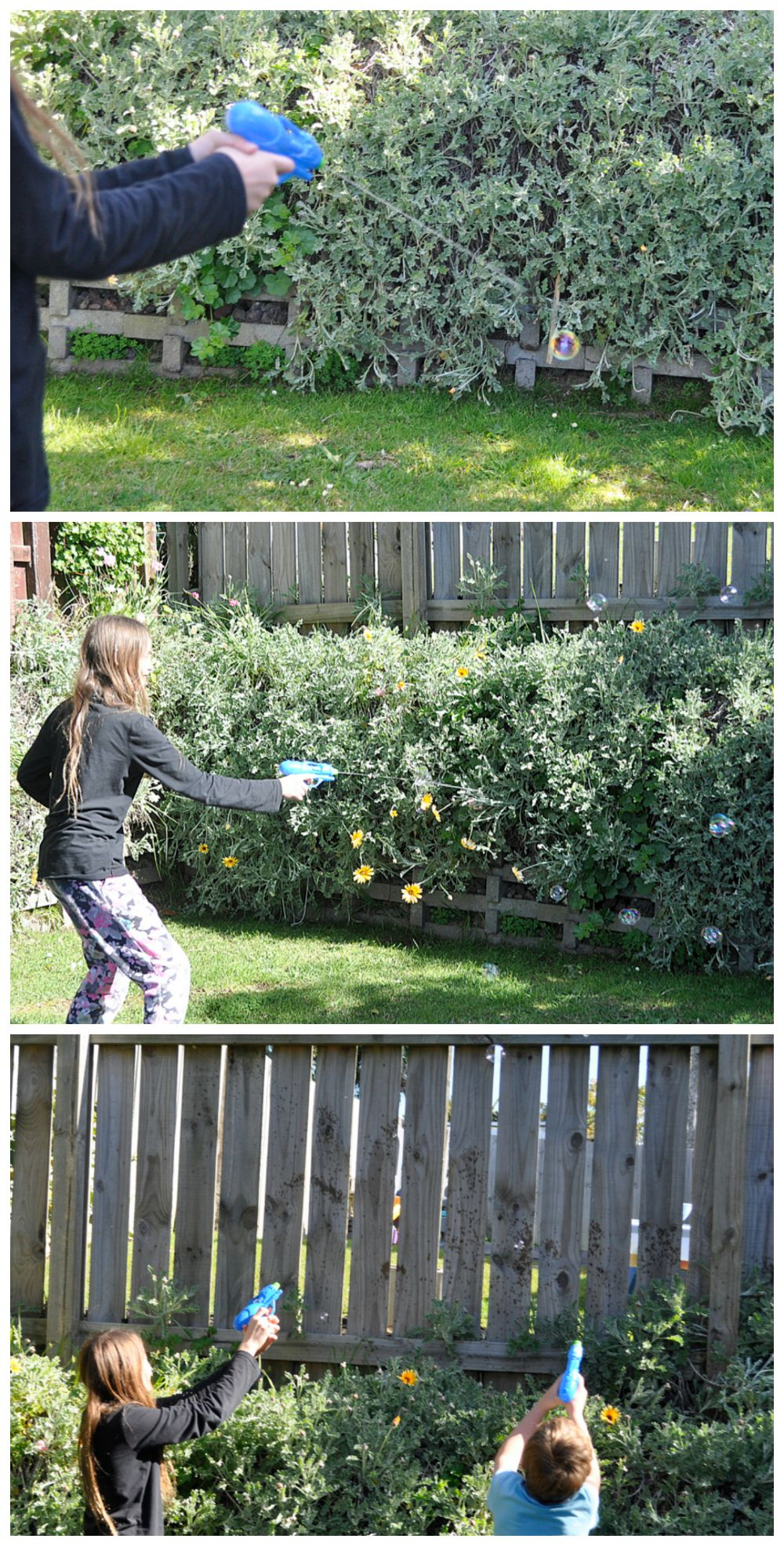 Bubble Target Game - great for parties and outdoor play