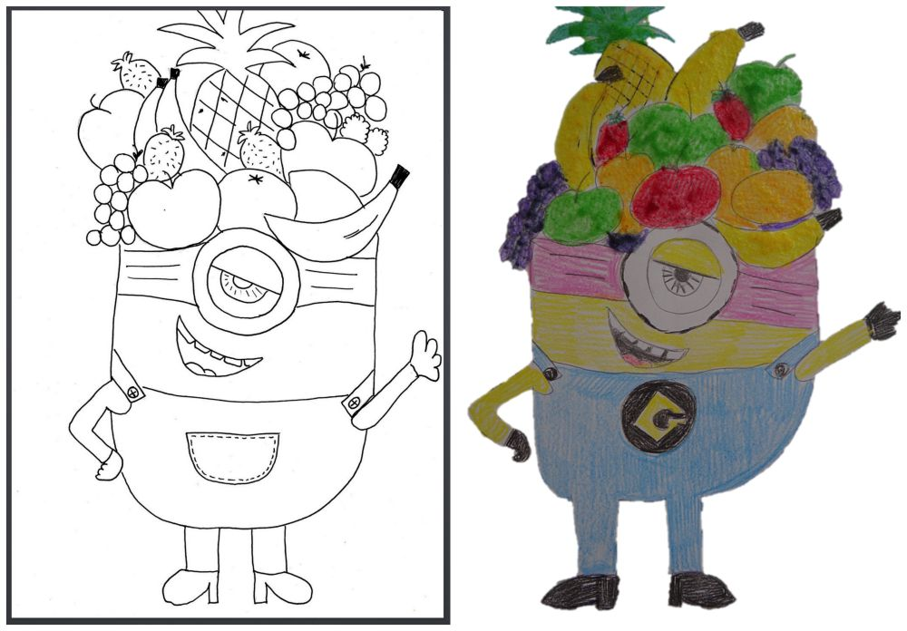 Minion printable - scratch and sniff picture