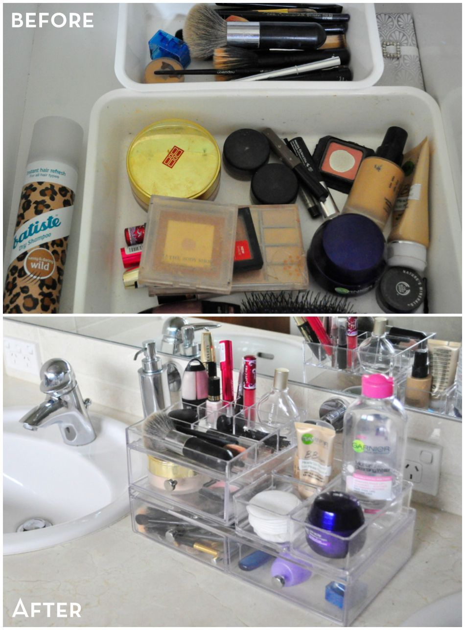 organising make up