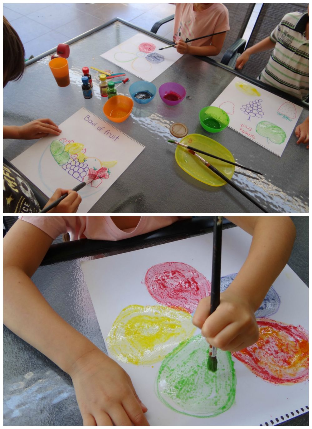 how to do scratch and sniff painting pictures