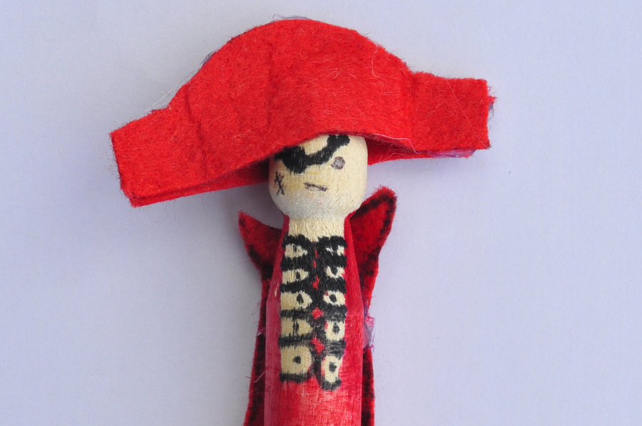 Pirate Peg Doll - so simple to make!