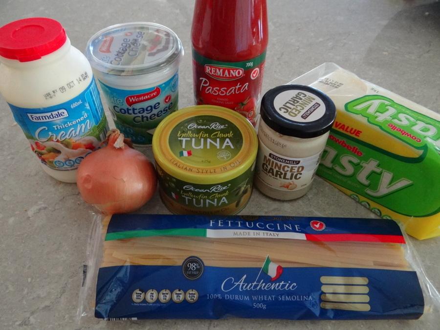 Easy Family Meal - Tune Fettuccine Bake