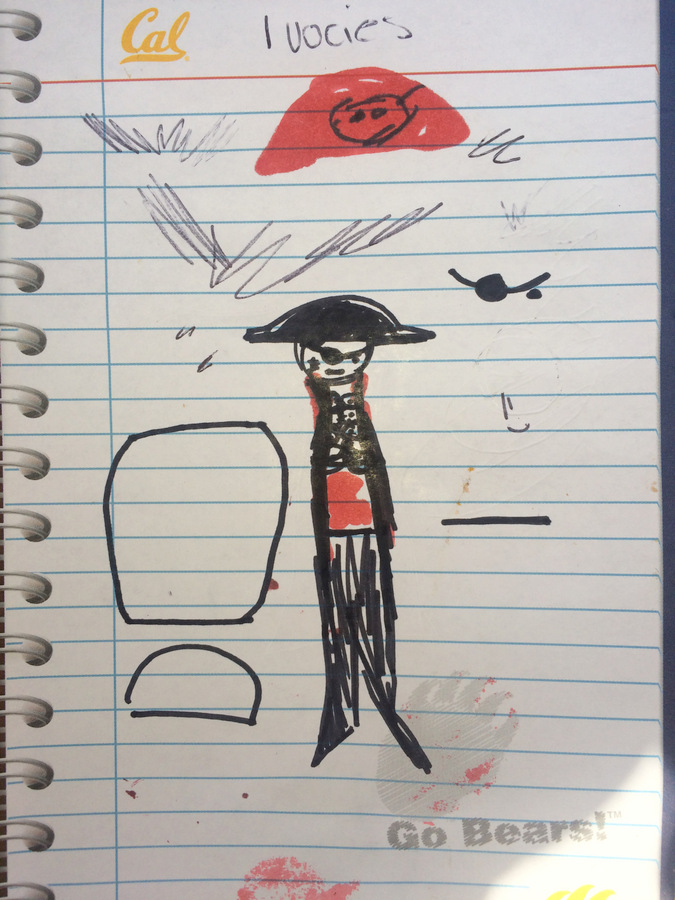 Pirate Peg Doll Design