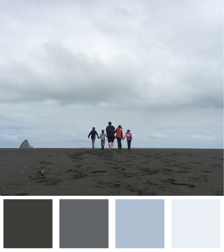 The Beach Doesn't Have to Be Golden To Be Beautiful Colour Palette