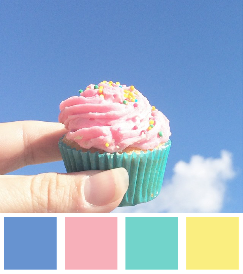 Mini Cupcakes and Blue Skies Colour Palette