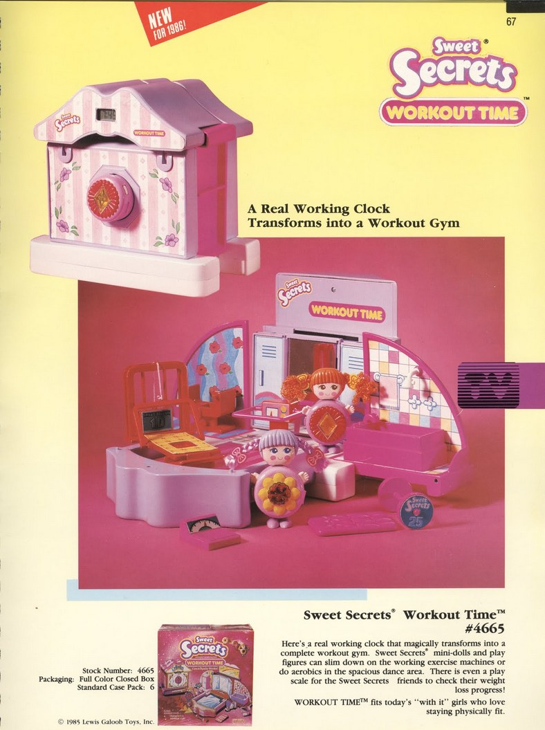 1986 Galoob Sweet Secrets Workout Time Playset Gym