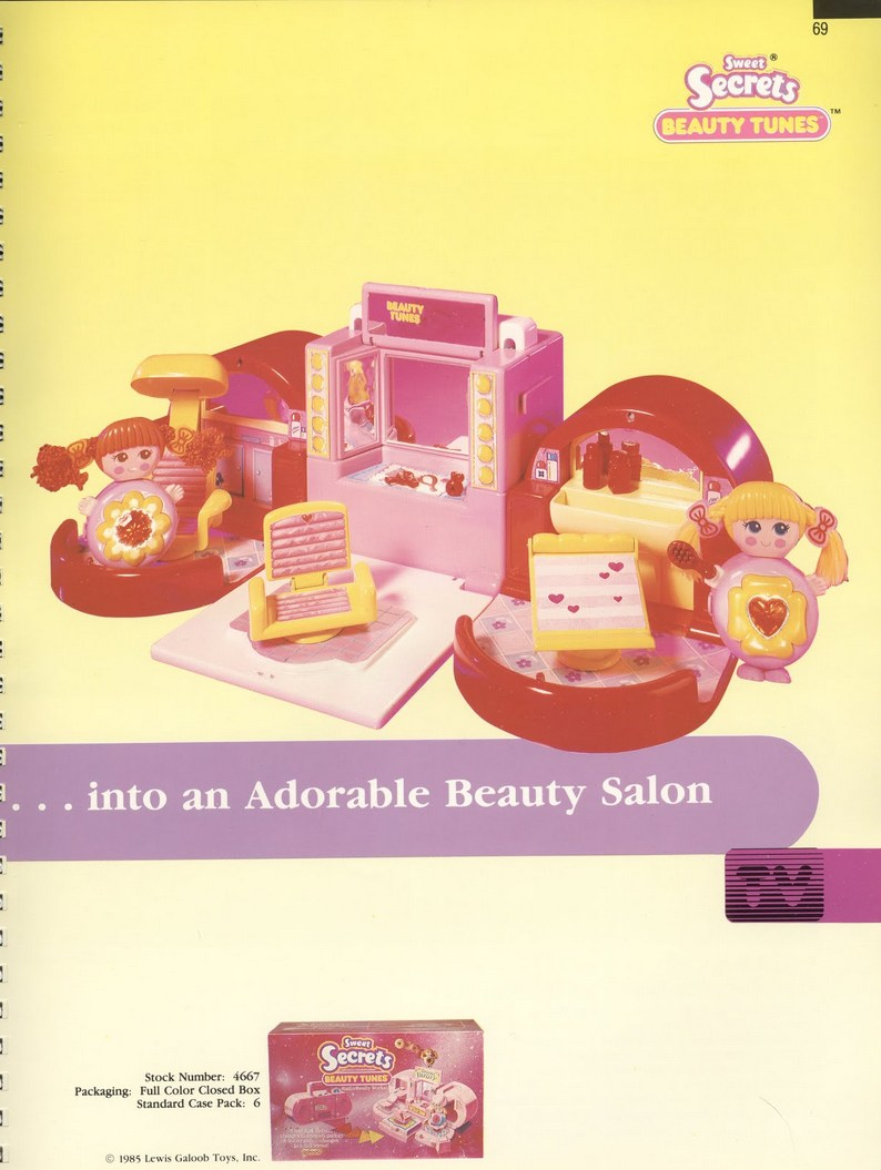 1986 Galoob Sweet Secrets Beauty Tunes radio ghetto blaster Beauty Salon