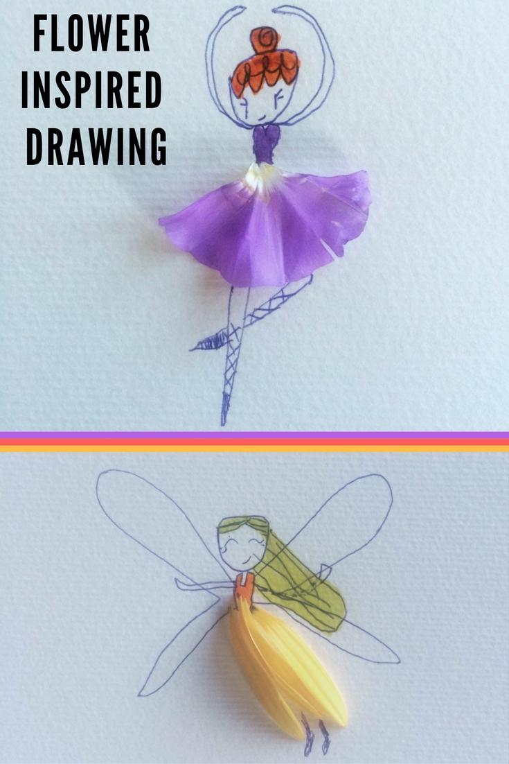 Flower Inspired Drawings