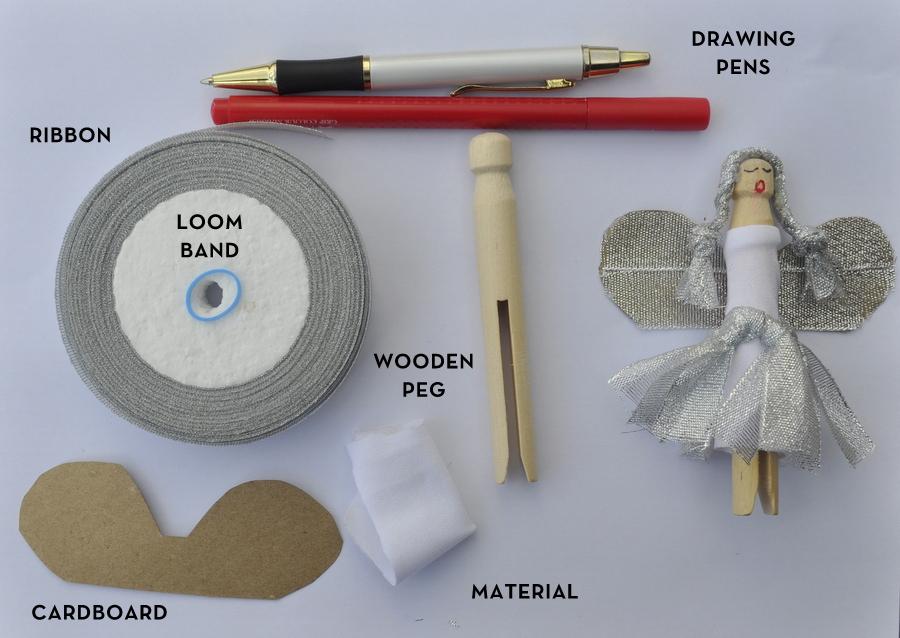 Christmas Craft - How to make a Peg Angel Christmas Decoration