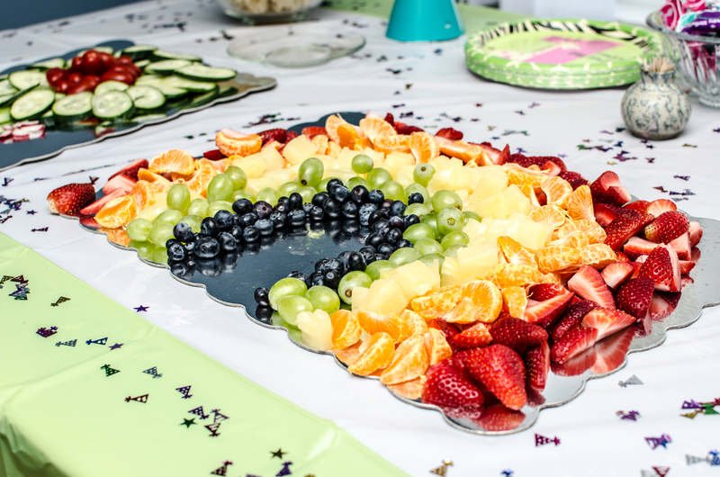 Kids Birthday Party Food Ideas Rainbow Fruit Platter