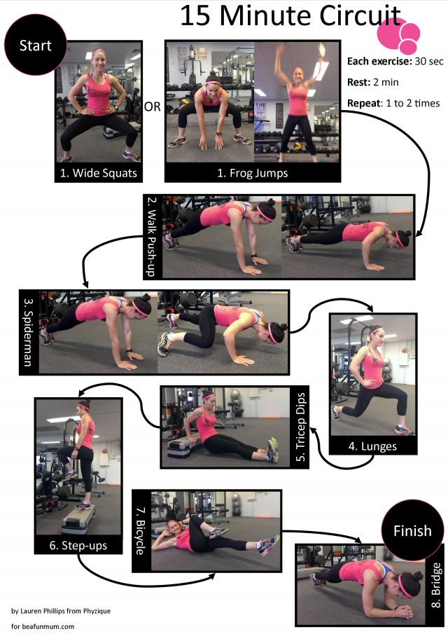 15 Minute Fitness Circuit You Can Do At Home