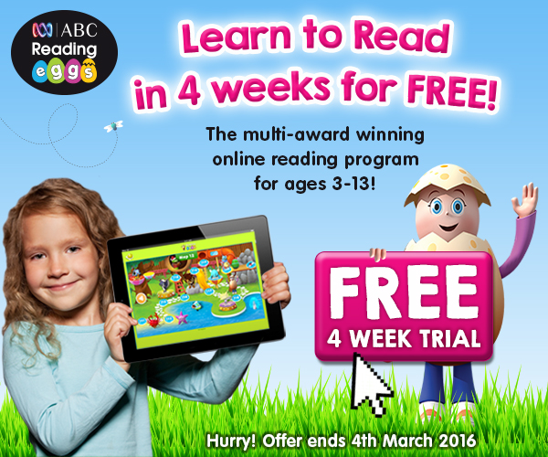 Kids and learn to read with ABC Reading Eggs