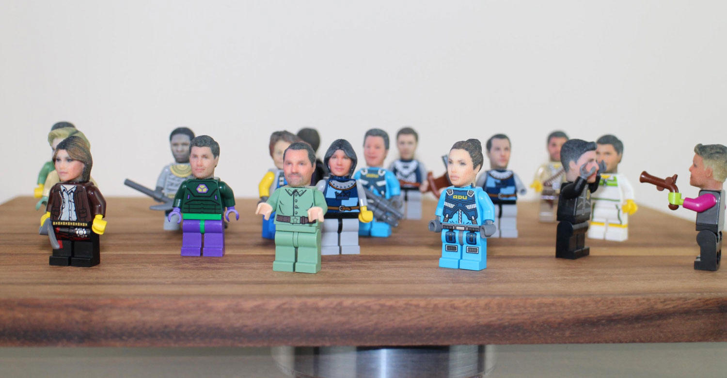 Personalised Mini Fig Heads for Lego