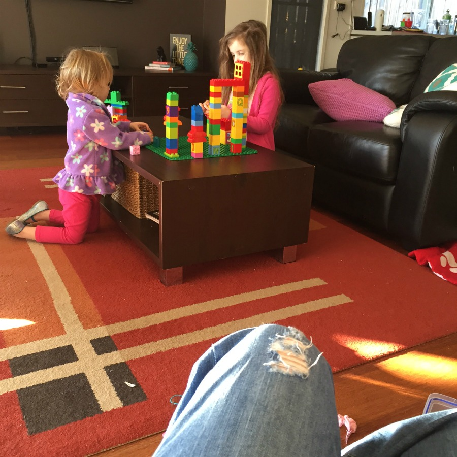 Lego Duplo keeps kids entertained
