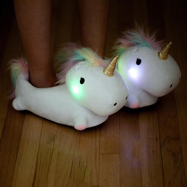 Unicorn Light Up Cute slippers