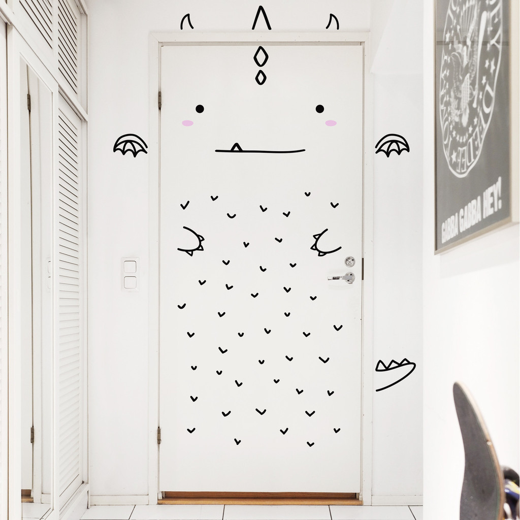 Door Decals - Dragon