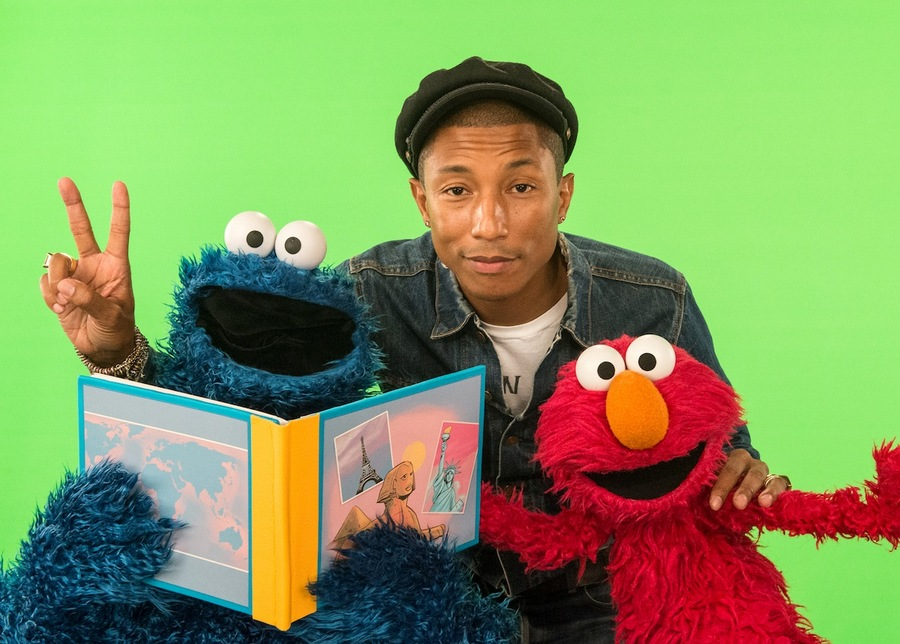 Pharrell, Cookie Monster & Elmo