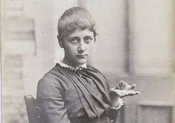 A teenage Beatrix Potter with her pet mouse