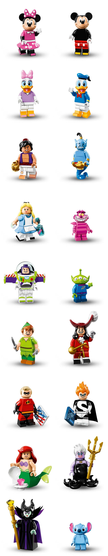 Disney Lego Minifigs