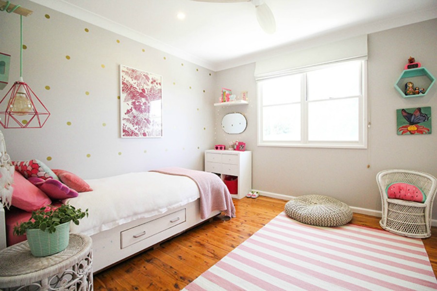 Girls bedroom by artful lodger
