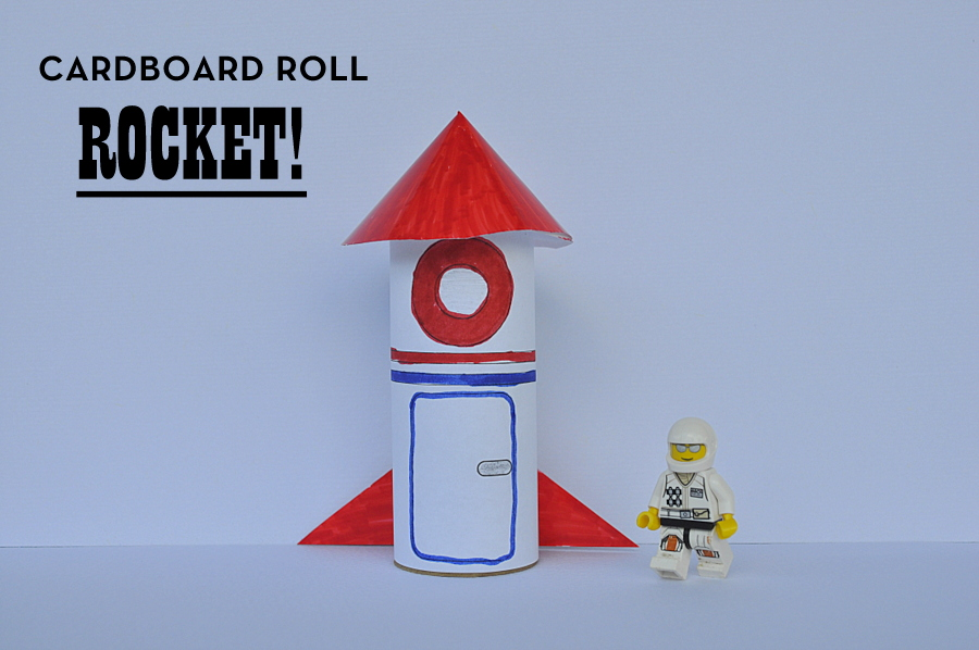Cardboard roll rocket - with printable
