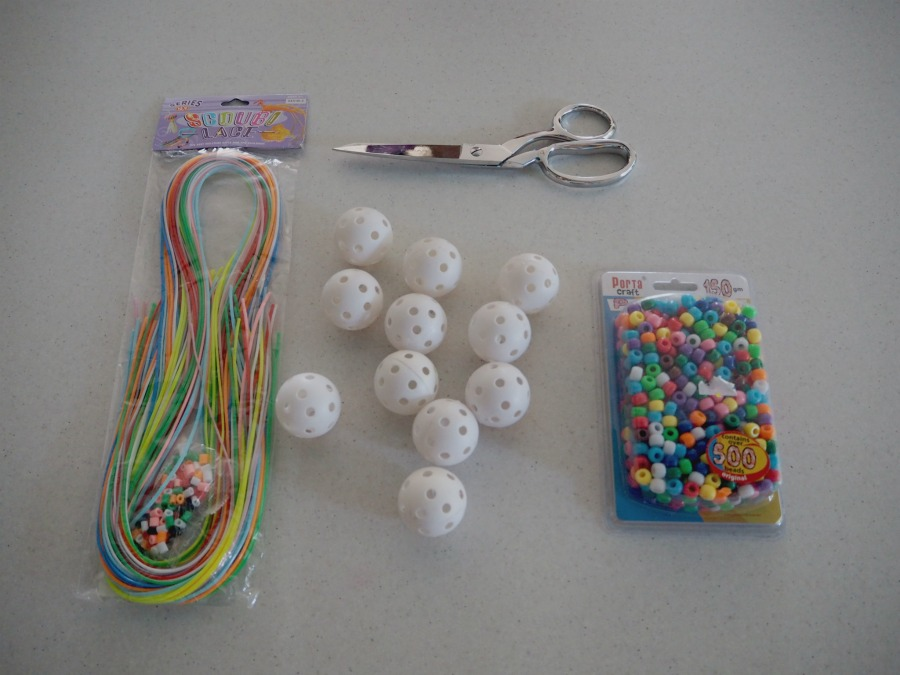 plastic golf ball necklace materials