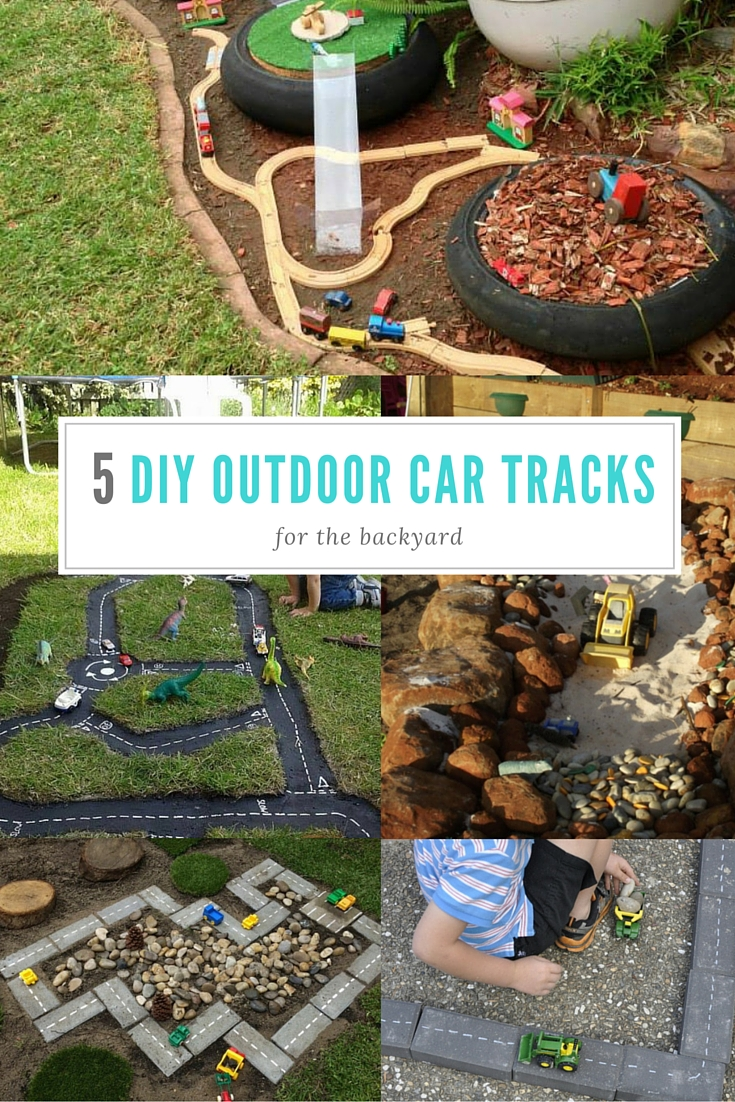 Five Diy Outdoor Tracks For Transport Play Be A Fun Mum