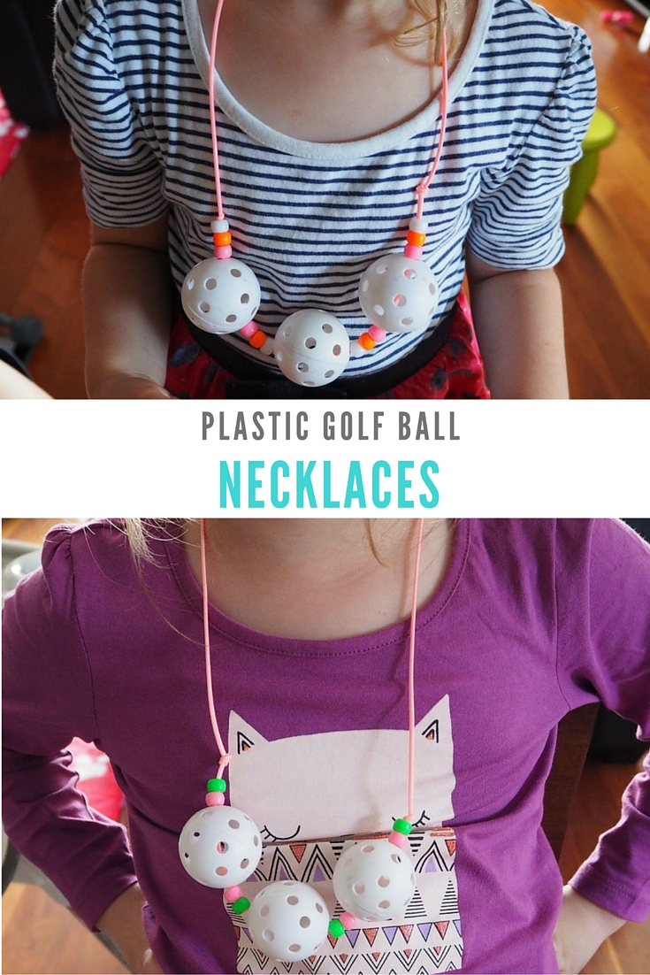 plastic golf ball necklaces