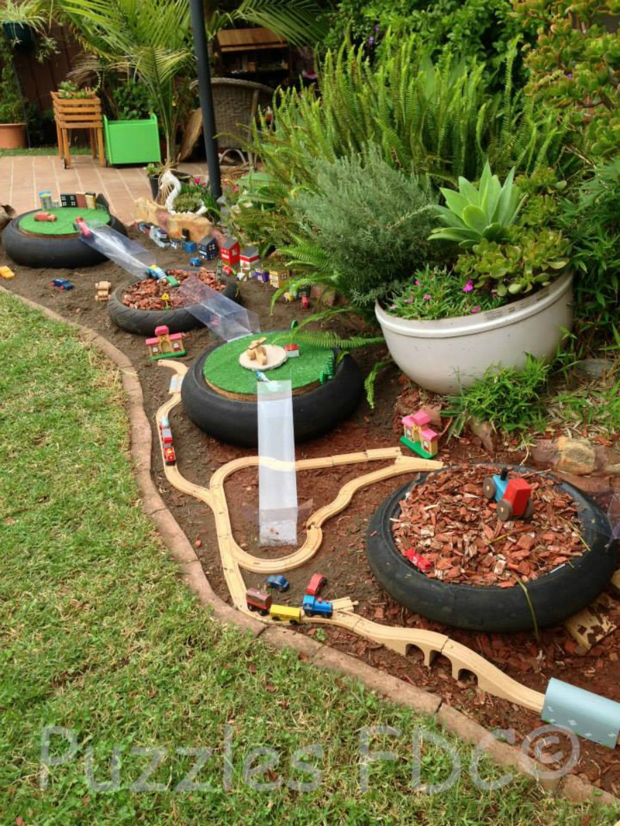 Five DIY Outdoor Tracks for Transport Play - Be A Fun Mum