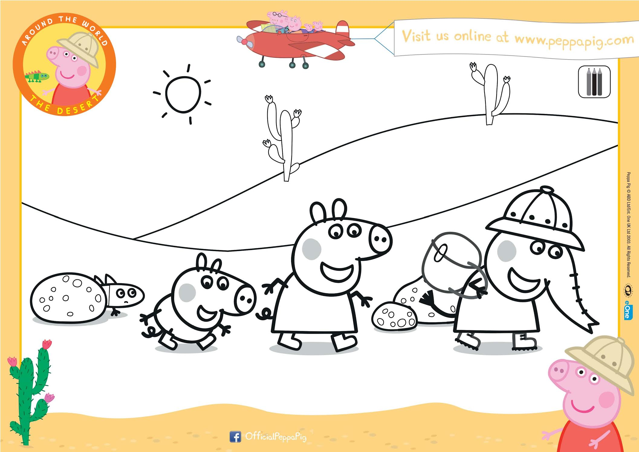 Peppa Pig Colouring Sheet