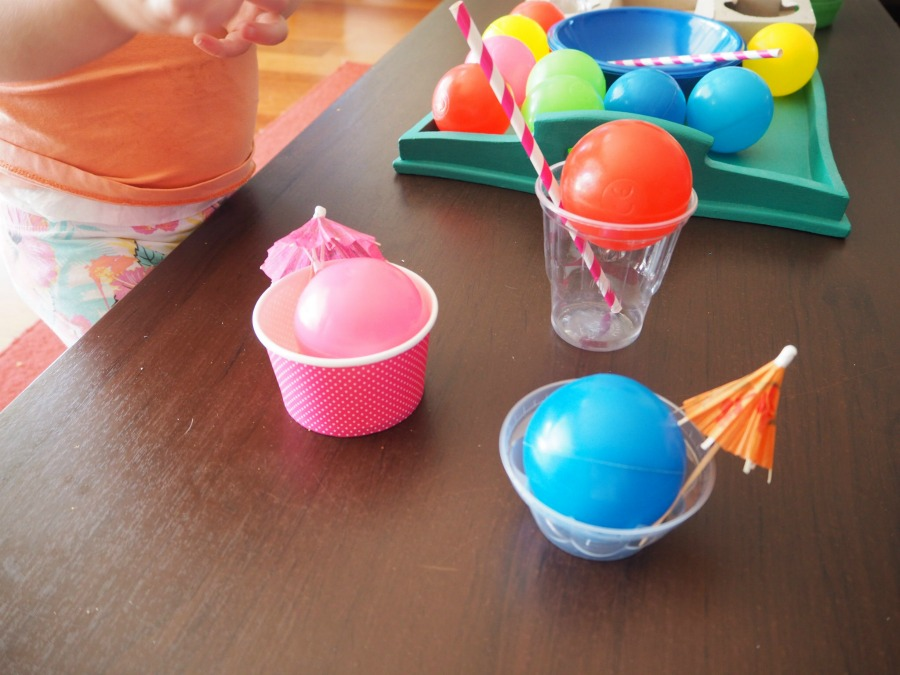 plastic balls play ideas