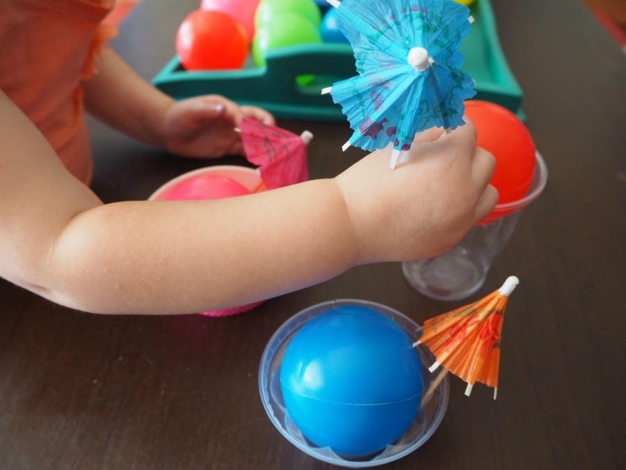 plastic balls play