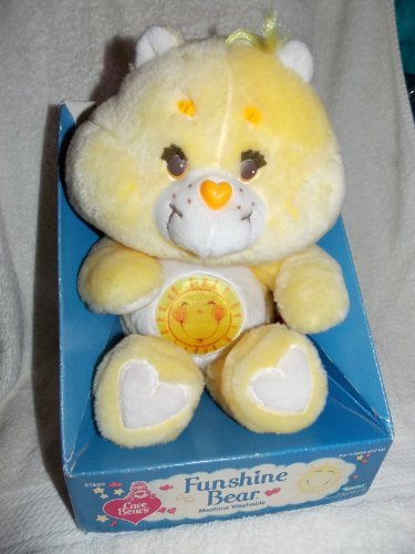 "1983 Vintage Care Bears 13"" Plush Funshine Bear"