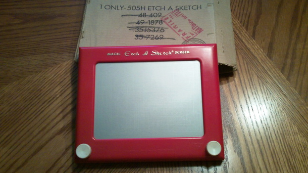Antique Etch-a-sketch