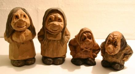 Wooden Troll Doll by Thomas Dam