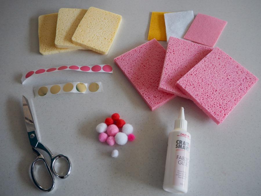 sponge cake craft materials