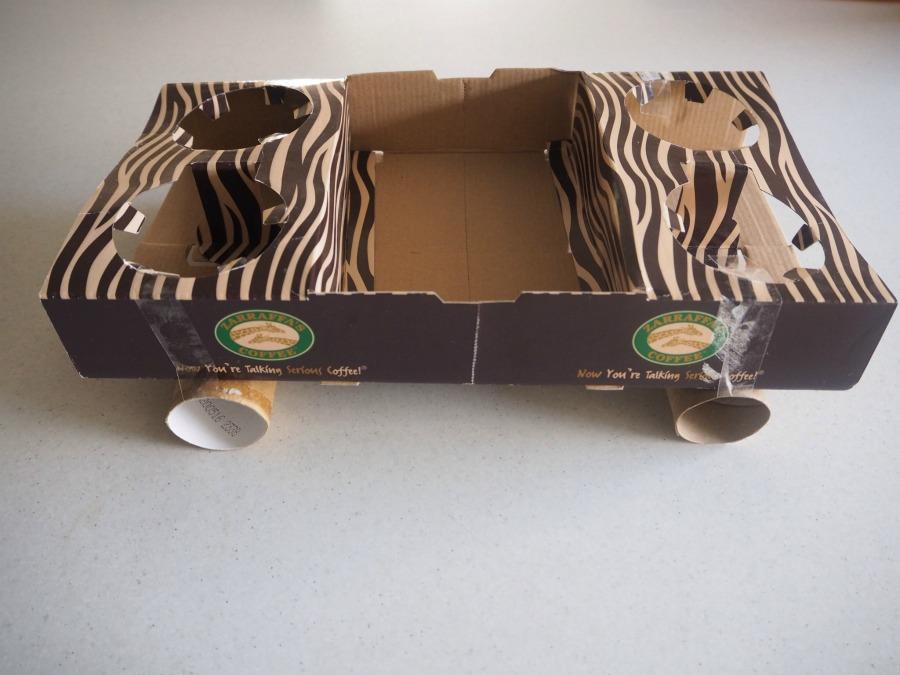 cardboard drink tray car craft