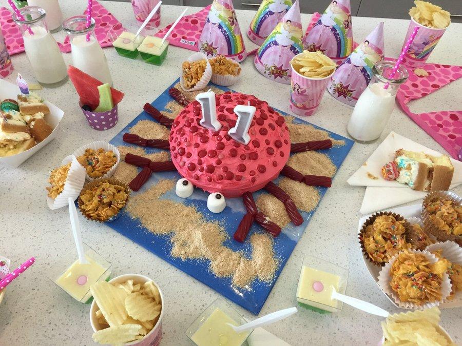 Mermaid Party Cake - Crab