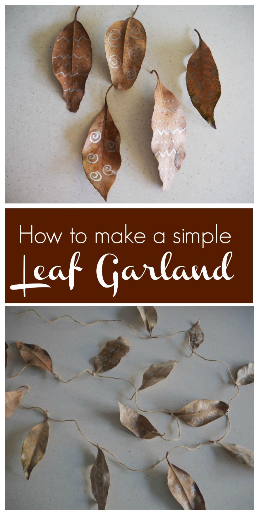 how to make a leaf garland