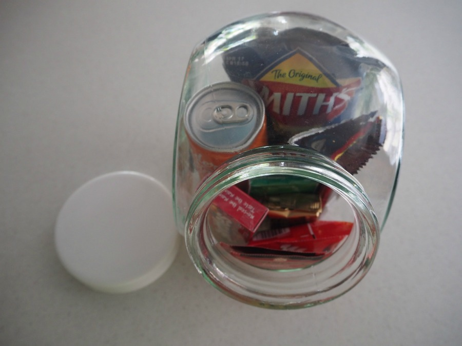 snack bar in a jar