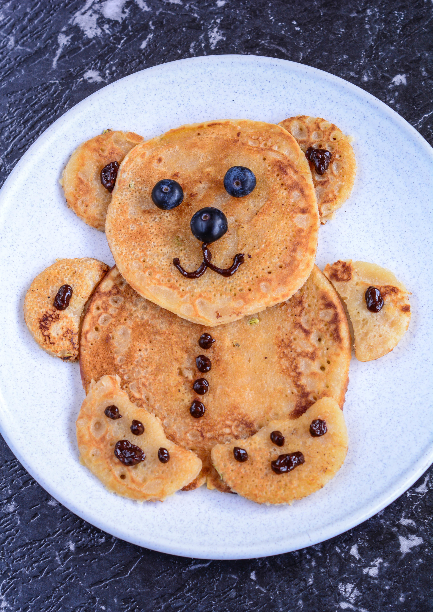 BIRTHDAY PANCAKES - TEDDY BEAR