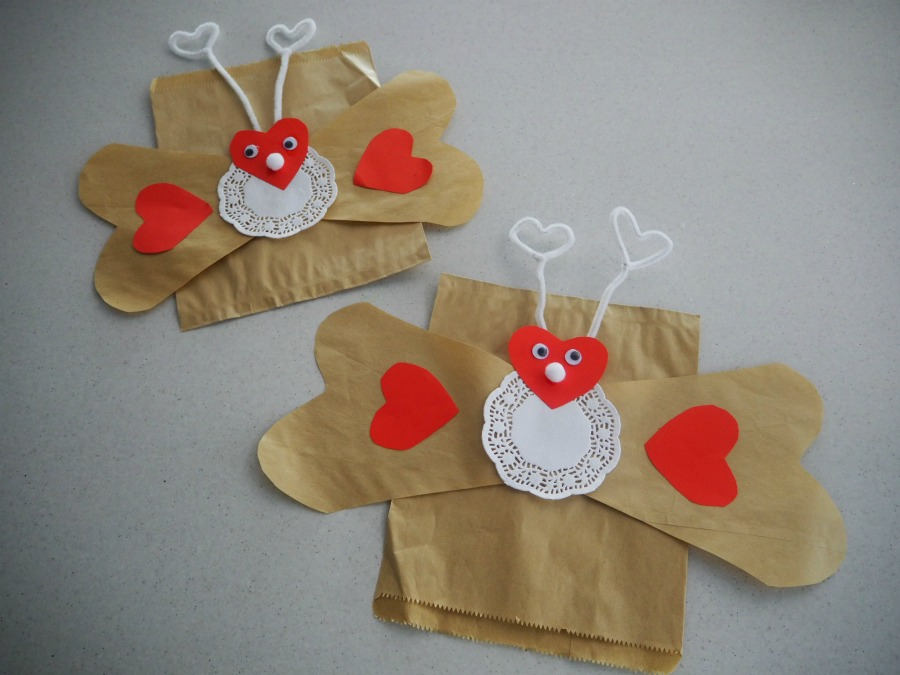 Love Bug Paper Bag Craft