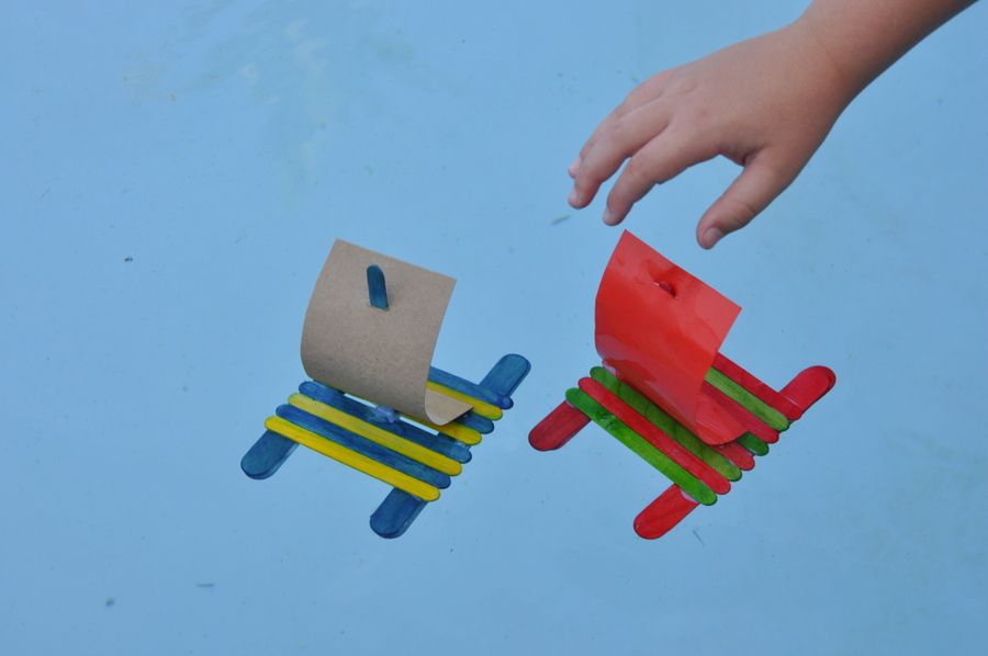 how to make a paddle pop stick raft