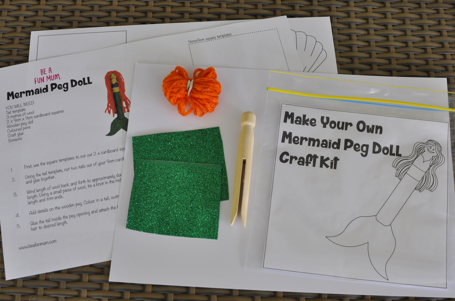 Mermaid Peg Doll Craft Kit
