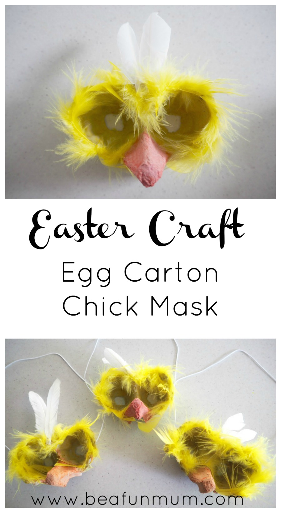 easter craft egg carton chick masks