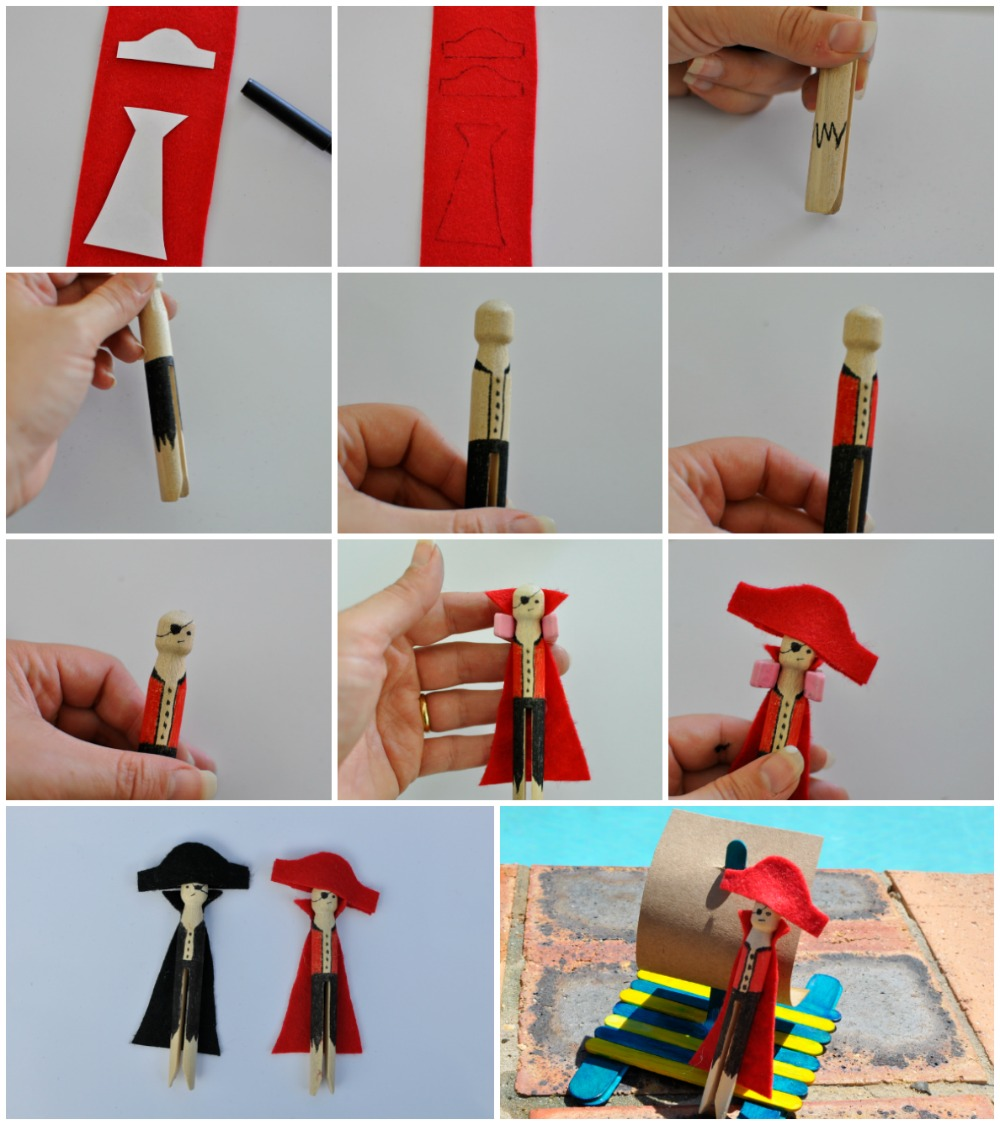 Pirate Peg Dolls