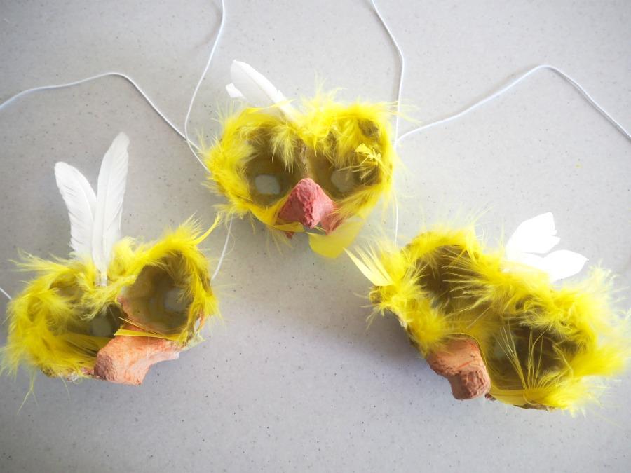 Easter Egg Carton chick Mask